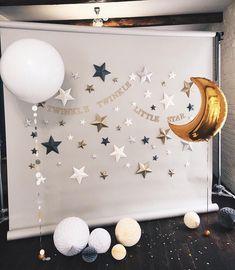 Twinkle Twinkle Little Star Decorations, Twinkle Star Party, Shower Party, Baby Shower Parties, Baby Shower Cakes, Baby Boy Shower, Baby Shower Photo Booth, Baby Birthday, Baby Shower Decorations