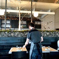Butchertown Hall – First Bites Cafe Interiors, Restaurant Interiors, Cafe Restaurant, Back Bar, Delicious Restaurant, Cafe Shop, First Bite, Steel Wall, Deco