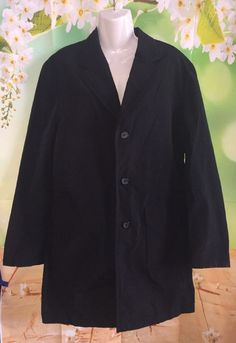 Womens L Black Raincoat International Concepts Inc Spring Summer Water Resistant  | eBay