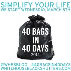 40 Bags in 40 Days 2014 Decluttering Challenge