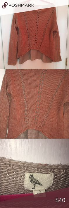 Anthropologie brand slouchy sweater faded pink Not itchy at all, high low deal going on but very subtle. Great condition Anthropologie Sweaters Crew & Scoop Necks