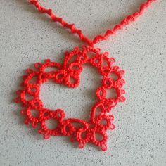 Rote Kette mit Herz in von Acasaconmanu auf Etsy