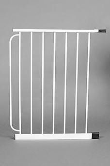 Expands your Carlson pet gate inches wider. Only compatible with [Carlson Extra Wide Pet Gate][].   [Carlson Extra Wide Pet Gate]: http://www.chewy.com/dog/carlson-pet-products-extra-wide-walk/dp/43480