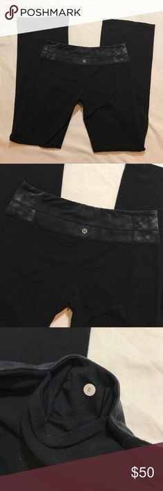 Lululemon athletica yoga workout pants size 8 Like new lululemon athletics yoga workout Active pants in a size 8. Ts. Always happy to answer questions! :)  Bundle discount available. lululemon athletica Pants