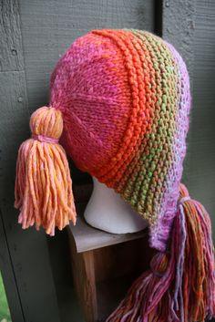 Rainbow Sherbet Vomit  Capucine Hat  Rowan Colourspun  IMG_4022 by butnostephanie, via Flickr