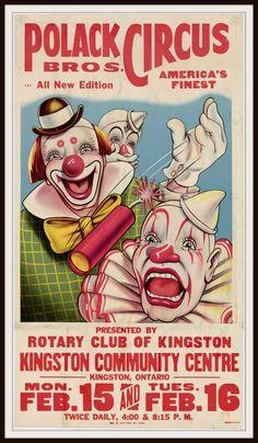 Vintage Reproduction Circus Poster Art Print