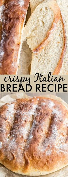 Crispy Italian Bread Recipe – Valentina's Corner This homemade Crispy Italian Bread Recipe is going to become a hit with the whole family. Crispy and crunchy on the outside and soft on the inside served with an amazing olive oil and herbs dip. Italian Bread Recipes, Easy Bread Recipes, Top Recipes, Best Homemade Bread Recipe, Homemade Rolls, Homemade Breads, Bakery Recipes, Recipes, Breads