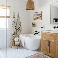 Home Decor Bedroom simple bathroom with Japanese tub.Home Decor Bedroom simple bathroom with Japanese tub Serene Bathroom, Bathroom Inspo, Beautiful Bathrooms, Bathroom Inspiration, Small Bathroom, Bathroom Ideas, Master Bathrooms, Dream Bathrooms, Neutral Bathroom Wallpaper