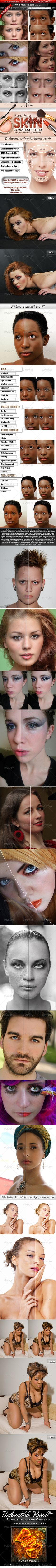 Pure Art Skin Power Filter  #GraphicRiver #contour