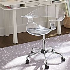 Acrylic Swivel Chair | PBteen