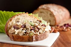 This is by far, the BEST recipe i have ever used to make chicken salad!  I even eat it, and those that know me well, know how much of a chicken fan I am... @Kate D ~ this is a MUST MAKE! Bringing some on Monday for you to sample. :) Sonoma Chicken Salad Sandwiches