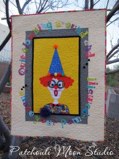 My Shake Your Pom-Poms Clown quilt