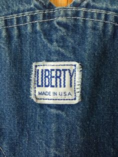Vintage Liberty Denim Jean Workwear Overalls Made In U.S.A.