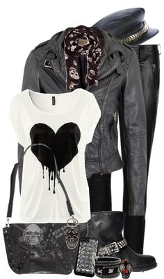 """Biker Chick"" by lmm2nd ❤ liked on Polyvore"