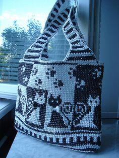 Crochet Slipper Pattern, Crochet Slippers, Tapestry Bag, Tapestry Crochet, Tote Pattern, Purse Patterns, Crochet Handbags, Crochet Purses, Sac Granny Square