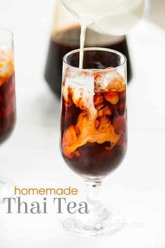 Seriously, our thai iced tea recipe is just like what you order at Thai restaurants. You can make it at home and cheaper! So good!