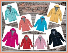 Monogrammed Rain Jacket - Personalized Adult Sizes by DesignsbyDaffy on Etsy