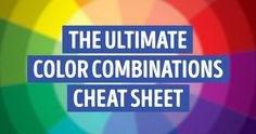 "The ultimate color combinations cheat sheet Goes beyond basic complimentary colors. Interesting to me since I seem to instinctively do this without knowing the ""why"". Colour Schemes, Color Combinations, Colouring Techniques, Complimentary Colors, Do It Yourself Home, Quilting Tips, Copics, Color Pallets, Color Theory"