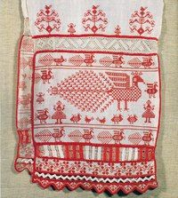 """peasantart: """" A fragment of a towel embroidered with colored threads in the technique of painting. Russian Embroidery, Embroidery Sampler, Folk Embroidery, Embroidery Patterns, Rug Hooking Patterns, Textile Patterns, Textile Prints, Textiles, Cross Stitch Bird"""
