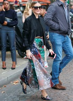 Olivia Palermo Shows Her Take on Fall Florals During Paris Fashion Week from InStyle.com