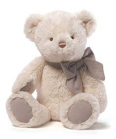Look what I found on #zulily! 15'' Cream Amandine Bear Plush Toy #zulilyfinds