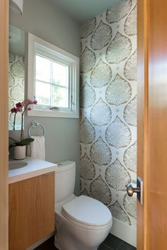 Powder Room Renovation in collaboration with Burton Architecture Brian Dittmar Design, Inc. Alameda CA