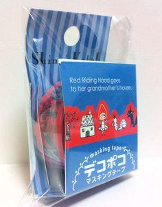Kawaii Japan Deco Masking Tape:DecoPoco Shinzi Katoh Series Little Red Riding Hood