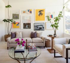 Mid-century modern home LA with a fresh gallery wall via @sfgirlbybay
