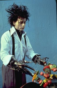 Edward Scissorhands.  I cannot begin to describe the awesomeness....