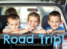 "Tons of ideas for road trips {including putting a disposible diaper in the bottom of a potty toliet to soak up the ""stuff"" - no spills while you get to a real stop.}"