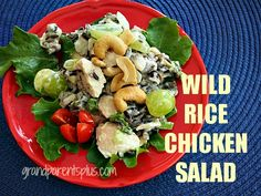 Wild Rice Chicken Salad Delicious, healthy and g-free!