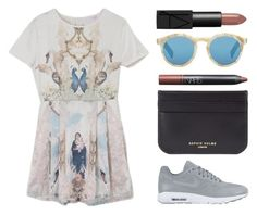 """""""Untitled #319"""" by cigerett ❤ liked on Polyvore featuring NIKE, Sophie Hulme, Illesteva and NARS Cosmetics"""