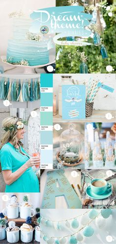 Today we bring you everything pretty for throwing a shower for an expected baby boy. We hope that this adorable aqua inspiration board gives you some bright (literally) ideas for you or your loved one's baby shower