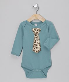 Take a look at this Petunia Petals Steel Swirl Tie Bodysuit - Infant on zulily today!