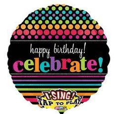 28'' Good Times Happy Birthday Sing-A-Tune-Foil Balloon
