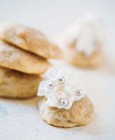 These ricotta cookies are light, fluffy, and delicious. They make the perfect sweet treat with an afternoon cup of coffee or after a satisfying dinner. We love that they're pretty much bite-sized, and they have the perfect amount of sweetness. You don't have to feel bad about grabbing an extra cookie (or two) from the cookie tray with this recipe.