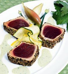 Recipes from The Nest - Pan-Seared Ahi Tuna With Wasabi Cream Sauce