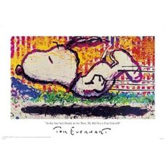 Tom Everhart.  Saw on today show and loved his snoopy work!