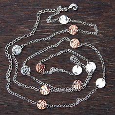 Coins Duet necklace (silver/copper)