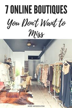 7 Online Boutiques You Don't Want to Miss | Mental Health | Self-Care | Journal Prompts | Rose-Minded | California