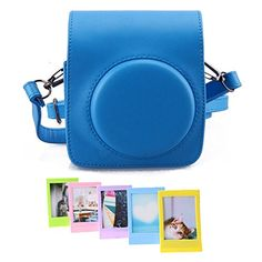 Fujifilm Instax Mini 70 Instant Film Camera Case  WISAGI Comprehensive Protection Instax Mini 70 Camera Case Bag With Soft PU Leather Material Blue 2 Item ** Click image to review more details.