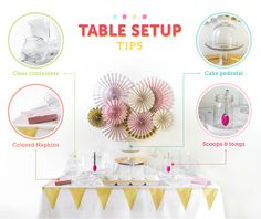 Candy buffets are all the rage at weddings these days. They make for great and easy wedding favors plus they add an element of decor if done right. Simple Candy Buffet, Candy Buffet Tables, Candy Table, Buffet Ideas, Best Party Food, Table Set Up, Best Candy, Wedding Planning Tips, Unicorn Party