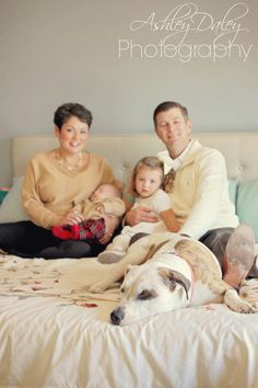 Ashley Daley Photography | Family photo, newborn pose, family pictures with dog