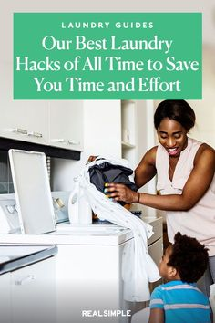Our Best Laundry Hacks of All Time | Here are 6 of our favorite ways to make laundry day easier and faster. These time-saving laundry tricks and simple swaps will help step up your laundry routine and save you effort in this time-consuming chore. #cleaningtips #cleanhouse #realsimple #cleaningguide #cleaninghacks Laundry Hacks, Time Saving, Tidy Up, Real Simple, Clean House, Save Yourself, Cleaning Hacks, All About Time, Effort