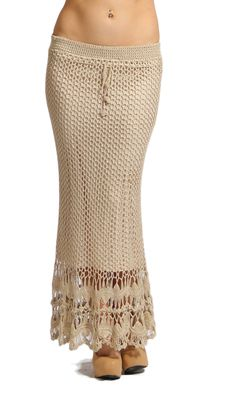 hairpin lace at the bottom? another crochet maxi