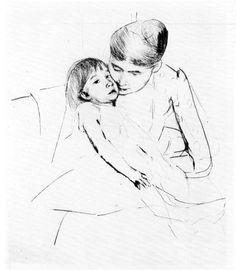 The ill child by Cassatt. Order from DEKORAMI as a poster, canvas print, mural. Zamów jako obraz na płótnie, plakat lub fototapetę na DEKORAMI.pl