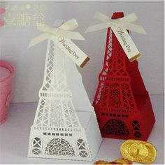 Online Shop 20pcs/lot Creative Cut-out Red Eiffel Tower Wedding party decoration supplies Candy Box wedding favor boxes gift box candy boxes|Aliexpress Mobile