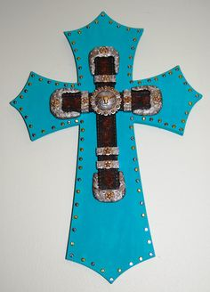 wooden-western-turquoise-cross-with-gold