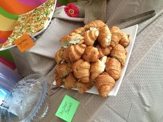Chicken salad croissants, party food, appetizers, finger food