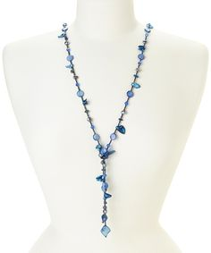 Look at this Blue Pearl & Shell Necklace & Earrings on #zulily today!